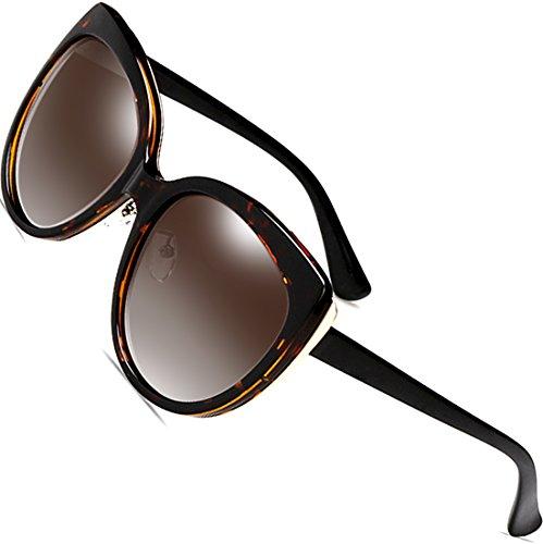 SIPLION Women's Polarized Wayfarer Cat Eye Oversized Sunglasses For Women 8103 - Cats Oversized