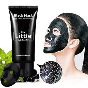 MY LITTLE BEAUTY STRONG FORMULA Black Mask Mascarilla facial exfoliante succionadora purificante de limpieza profunda contra los Puntos Negros, acné y piel aceitosa.
