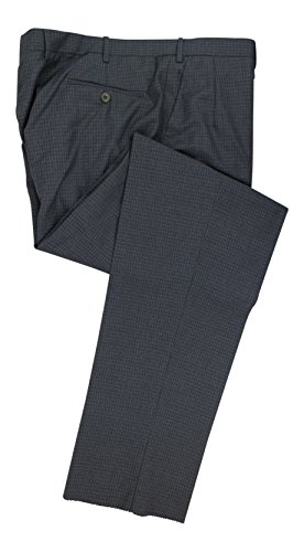 BRIONI Moena Gray Check Wool Single Pleat Dress Pants Size 58/42 R