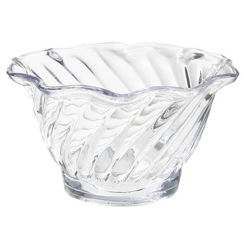 G.E.T. Enterprises model DD-50 Swirl Bowl, 5 oz. Capacity, sold by the case of 12 each