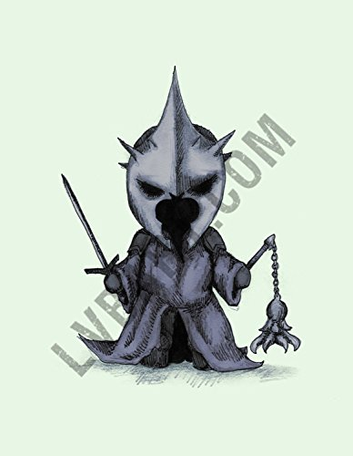 Plush Witch King Fine Art Print (Nazgul Witch King)