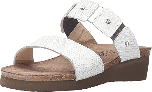 NAOT Footwear Women's Ashley White Snake Nubuck 13 M US