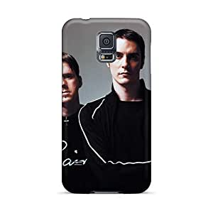 Bumper Cell-phone Hard Covers For Samsung Galaxy S5 (ybT13016kyTp) Unique Design Colorful Breaking Benjamin Band Pattern