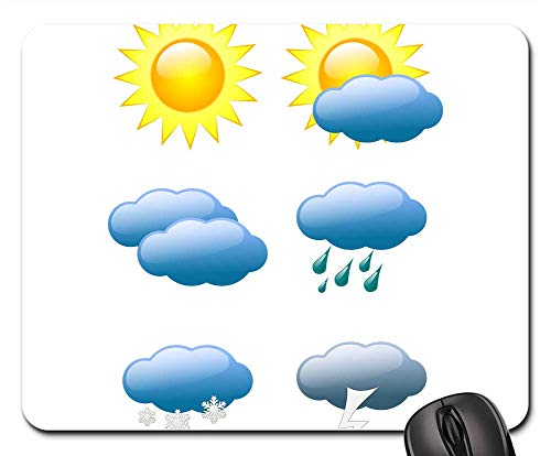 Mouse Pad - Weather Forecast Weather Sun Cloud Rain ()
