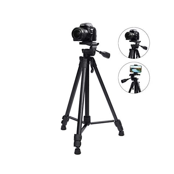 RetinaPix Fotopro DIGI-9300 5ft Tripod Stand for Cameras and Camcorders Aluminium Black Payload 4Kg with Mobile Holder