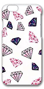 iphone 6 4.7 Case, Customized Slim Protective Hard 3D Case Cover for Apple iphone 6 4.7- Diamonds