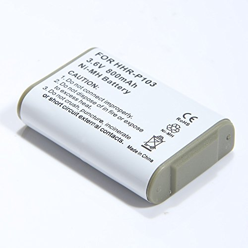 Masione Rechargeable Battery for Panasonic HHR-P103 HHR-P...