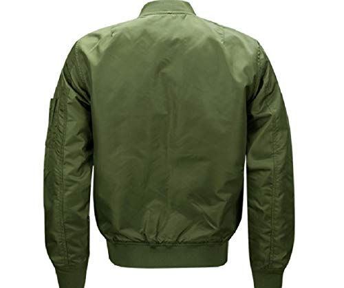 Solida Outwear Sovradimensionata Verde Giacca Collo Casuale Spessa Militare Mogogomen Alto 4X7Ow4x