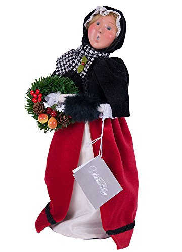 Byers' Choice Colonial Woman Red/Black #518 (Williamsburg Christmas Wreaths)