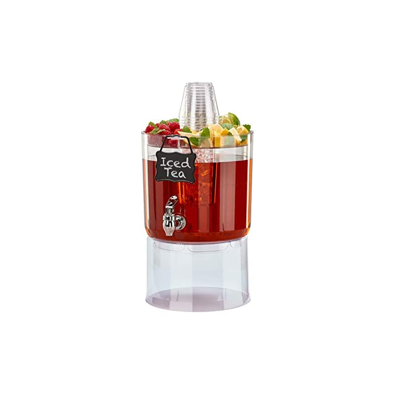 Buddeez 14401C-ONL Party Top New Beverage Dispenser, 1.75 Gallon, Clear