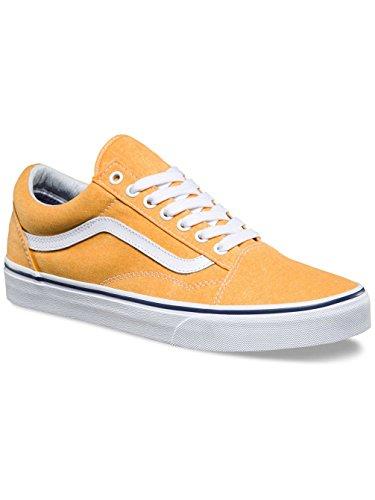 Bestelwagens Herren Ua Old Skool Sneaker Gelb (gewassen Canvas Citrus / Crown Blauw)