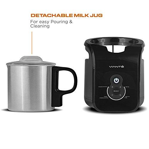 Viante CAF-20 Automatic Milk Frother Cappuccinos,... 4 Pre-set Programs