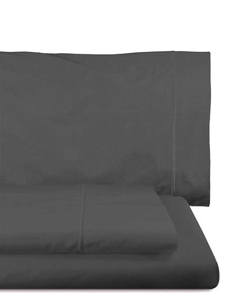 Home Royal - Juego de sábanas compuesto por encimera, 220 x 285 cm, bajera ajustable, 135 x 200 cm, funda para almohada, 45 x 155 cm, color grafito