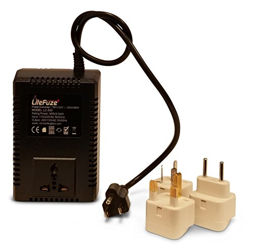 p/Down Travel Voltage Converter With Worldwide UK/US/AU/EU Plugs - 110v/220v 220v/110v Step Up/Down Automatic Transformer Adapter - Travel Charger AC Power ()