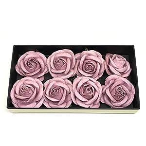 """2"""" Mauve Paper Flowers Paper Rose Artificial Flowers Fake Flowers Artificial Roses Paper Craft Flowers Paper Rose Flower Mulberry Paper Flowers 10 Pieces 30"""
