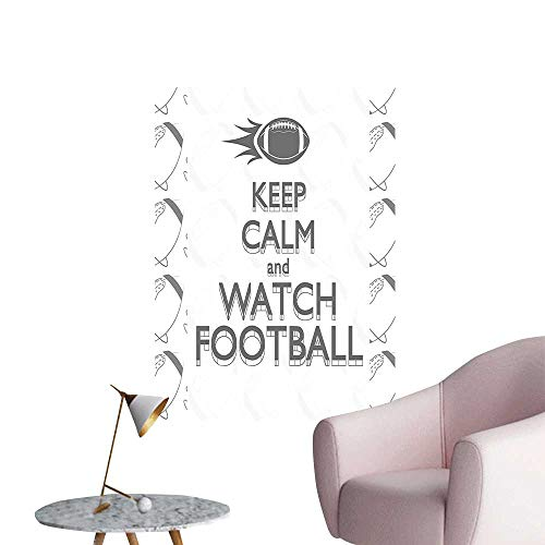 Wall Stickers for Living Room Play Keep Calm Quote ochrome Ball Vintage Label Black White Grey Vinyl Wall Stickers Print,32
