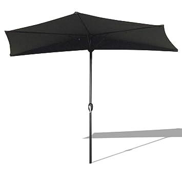 Super Amazon.de: AUFUN Halbrund-Sonnenschirm mit kurbel 300cm UV Schutz UJ45