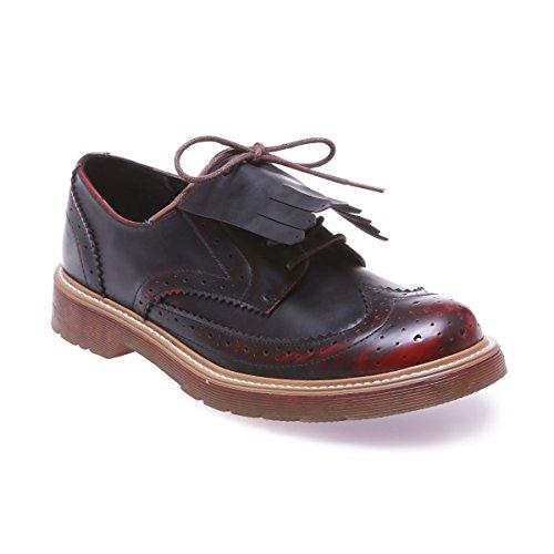 Para Rojo Zapatos De La Cordones Modeuse Mujer RAq4B4