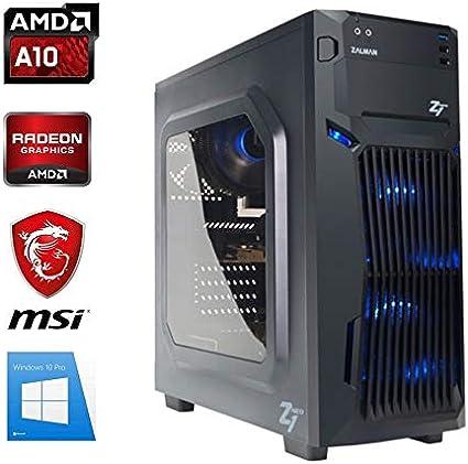 PC Gamer AMD A10-9700 - Radeon R7 Serie - 16 GB RAM - SSD 480 GB - Wi-Fi - Zalman Z1 Neo - Windows 10: Amazon.es ...