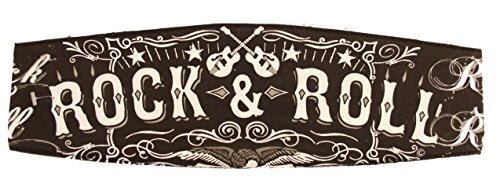 - Rock & Roll Black Chop Top Biker Bandana Head Doo Wrap Scarf