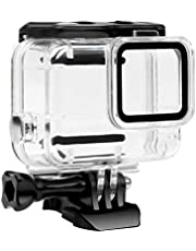 FitStill Waterdichte beschermhoes voor Hero 7, zwart, onderwater beschermhoes, met accessoires voor Hero7 actiecamera, Dual Lock: Hero 7 White/Silver Dive Case