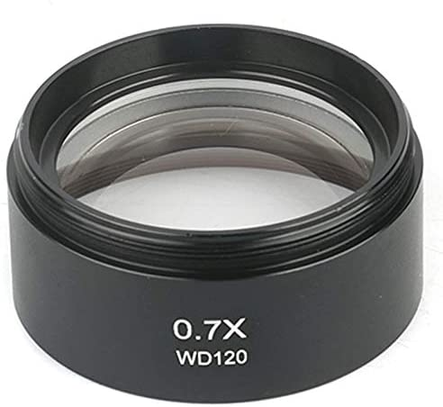 UANG WD120 0.7X Trinocular Stereo Microscope Auxiliary Objective Lens Barlow Lens 48mm Thread