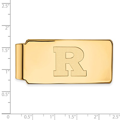 Money Yellow RU University Licensed Silver w 14K Collegiate Plated LogoArt Sterling Gold Clip Rutgers Official qwOt4