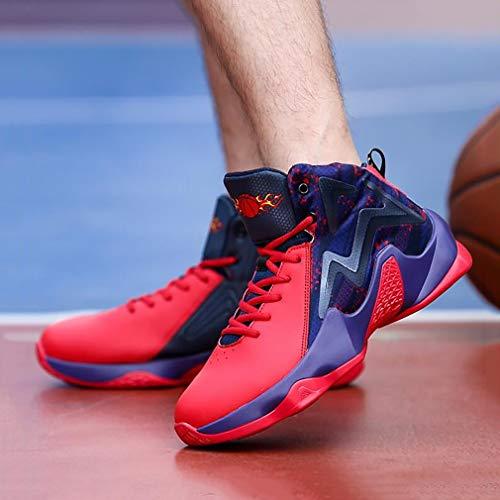 rouge D'entraînement Printemps ons Pour Haut Hommes Basket Bleu Chaussures Hy ball Portables Noir De Respirant Sport automne Bottes Fitness Slip jogging aCWSaHncB