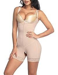 Tummy Control Shapewear Open Bust Bodysuit Seamless Body Shaper (S-5XL)