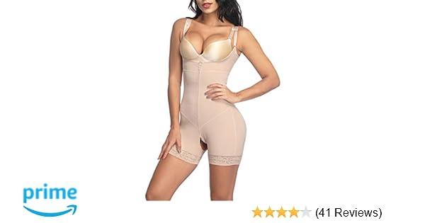 1f9ae3823dda7 Lover-Beauty Tummy Control Shapewear Open Bust Bodysuit Seamless Body Shaper  (S-5XL) at Amazon Women s Clothing store
