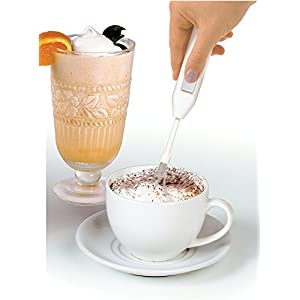Simply Silver - - Norpro Deluxe Mini Mixer Cordless Kitchen Drink Frother Cappuccino Latte 2273