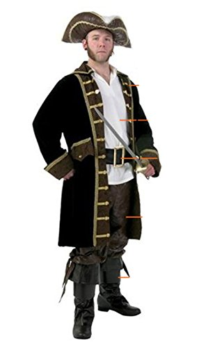 Dongya Caribbeans Cosplay Costume Adult Pirate Captain (Circus Animal Trainer Costumes)
