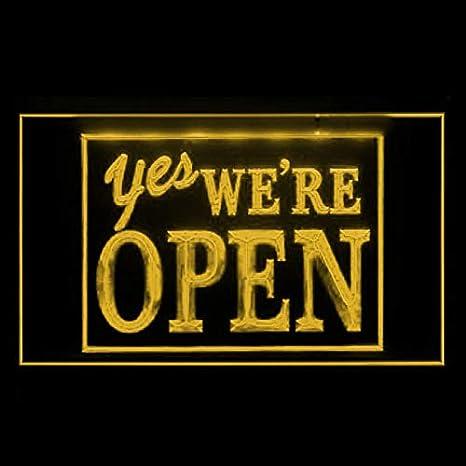 Amazon.com: 120038 Sí-Estamos abiertos Bienvenida Yoga Brew ...