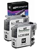 Speedy Inks - 2pk Compatible Brother LC203 LC203BK High Yield Black Ink