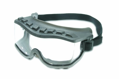 Uvex S3800 Strategy Safety Goggles, Gray Body, Clear Uvextra Anti-Fog Lens, Direct Vent, Fabric Headband