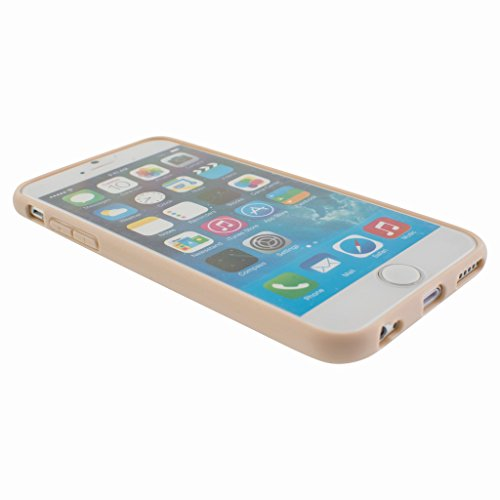 Stunning Style Apple iphone 6s Case cover, TPU Rubber Ultra Thin Bumper Twin Colour Case Frame Protective Cover For iPhone 6s (Camel)