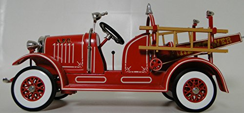 Antique Toys Fire Engine - High End Collector Pedal Car 1930 1940 Ford Antique Vintage 1 Truck Red Fire Engine 24 Rare Pickup Tower 18 Model T Investment Grade Classic Museum Quality Metal Collectible NOT A Child Ride On Toy