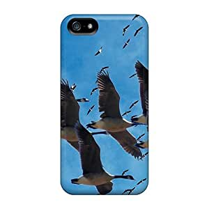 Fashion Tpu Case For Iphone 5/5s- Cranes Migration Defender Case Cover by icecream design