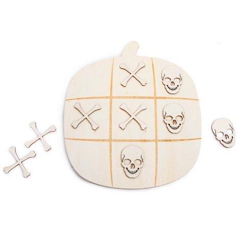 Darice Pumpkin Tic Tac Toe Board Kit: 8.85 X 10.13