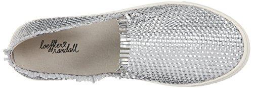 Leather Women's Fashion Mirror Mazzy Sneaker woven Loeffler Silver Randall wPOXqX7