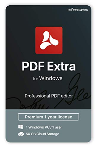 PDF Extra – Professional PDF Editor – Edit, Protect, Annotate, Fill and Sign PDFs – 1 PC/ 1 User / 1year Subscription