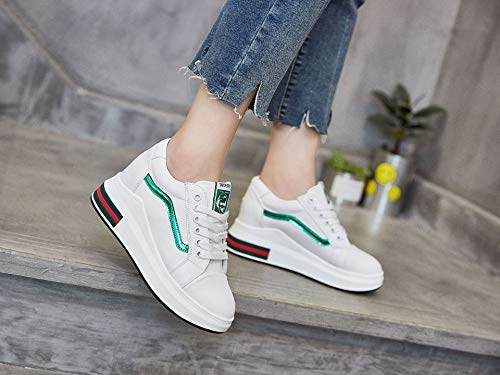 Bottomed Casual Wild Green High Shoes Thirty Four Students Muffin Thick Thick Bottom Shoes Shoes KPHY qCxnTvXaAw