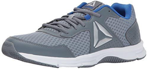 Reebok Men's Express Runner Running Shoe, Meteor Grey/Asteroid Dust/Vital Blue/Silver/White, 8.5 M US