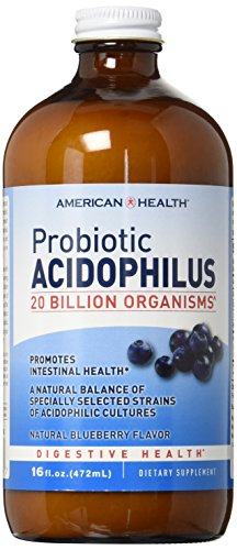 American Health, Acidophilus Liquid, Blueberry, 16 oz -