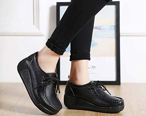 Large Negro GLSHI Seasons Zapatos Four Deportivos Mujer para Shoes Bottom Extra Size Walking 2018 faBwqUf