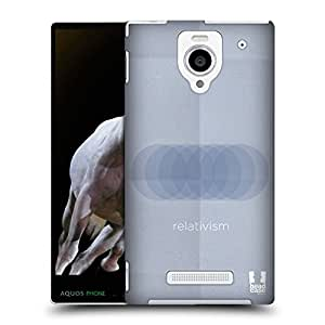 Head Case Designs Relativism Philography Protective Snap-on Hard Back Case Cover for Sharp Aquos Xx 302SH LTE