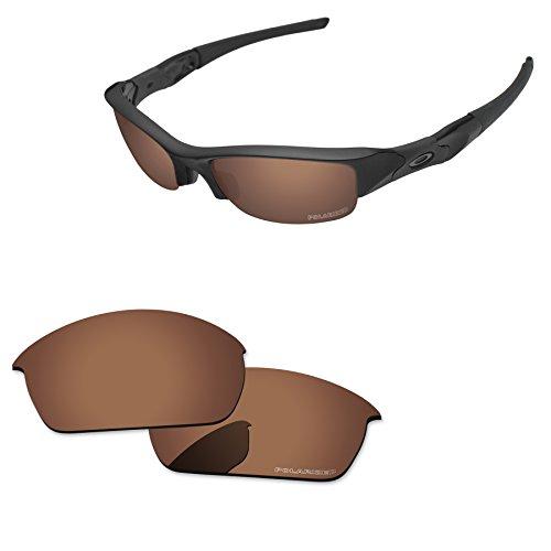 Shield Brown Lens - PapaViva Replacement Lenses for Oakley Flak Jacket Copper Brown - Polarized
