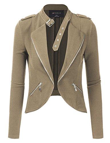 Womens White Leather Jacket - 8
