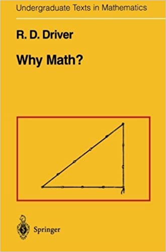 Book Why Math? (Undergraduate Texts in Mathematics) by R.D. Driver (2013-10-04)