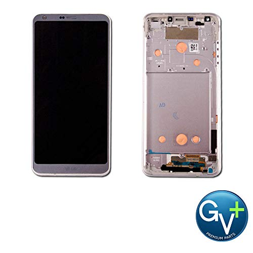 Group Vertical Replacement Complete Frame LCD Digitizer Assembly Compatible with LG G6 (Ice Platinum) (GV+ Performance)